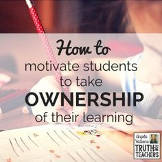 Inspire kids to take ownership of their learning with these strategies. Remember that the more ownership of the learning you hand over to students, the more engagement you're going to have!