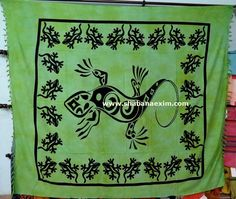 Lizard Custom Color Green tapestry No Description Product Id:: 3047 Size:: 150X220cm, 210X240 cm, Material:: 100% Cotton Design:: Printed Colors:: Any Custom Color