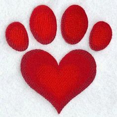 Red Heart Paw **