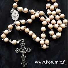 Rosary Pearl Necklace, Pearls, Jewelry, String Of Pearls, Jewlery, Beaded Necklace, Bijoux, Beads, Schmuck