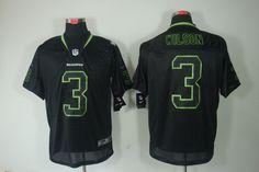 Seahawks #3 Russell Wilson Black NIKE NFL Jersey    $24