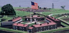 """Fort McHenry National Monument & Historic Shrine in Baltimore, MD. The Fort's successful defense during the Battle of Baltimore in 1814 inspired the writing of """"The Star-Spangled Banner. Visit Maryland, Baltimore Maryland, Places To Travel, Places To Go, Pennsylvania History, Historical Sites, Historical Society, War Of 1812, Get Outdoors"""