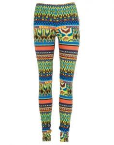 #ChiaraFashion Neon Aztec Print Leggings
