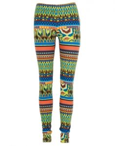 Neon Aztec Print Leggings  £12.95 #ChiaraFashion