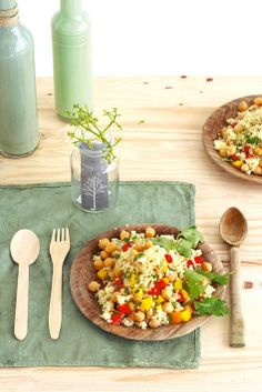 Vegetarian: Couscous with chickpeas - Ideas Healthy Recipes, Veggie Recipes, Vegetarian Recipes, Cooking Recipes, Filling Food, Vegetarian Lunch, Mediterranean Recipes, Couscous, I Love Food