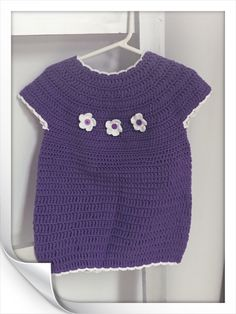 Purple Baby Dress with White Flowers