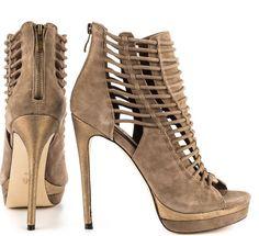 reputable site b72e3 d9ddd Plataformas, Tacones, Precioso, Mujer, Zapatos Feos, Gris Topo, Botines De  Caña Corta, Zapatos De Moda, Botín