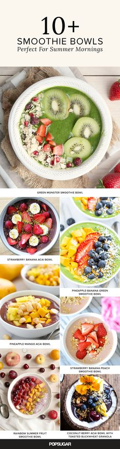 Smoothies and Summer days go hand in hand, but sometimes you want to slow down, use a proper utensil (sorry straws), and chew your food. Here are 15 variations of smoothie bowls to try — plenty to get you through these dog days of Summer.