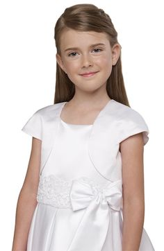 little girls bolero - white