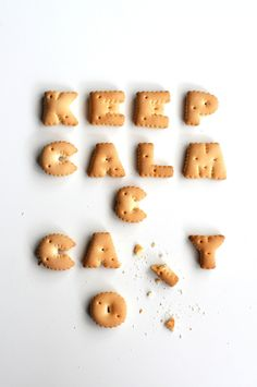 Keep Calm and Ca.... food typography