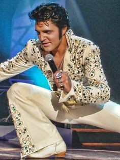 Ryan Pelton as Elvis.  I am very critical of Elvis impersonators, but I have to say that this dude nails it!!
