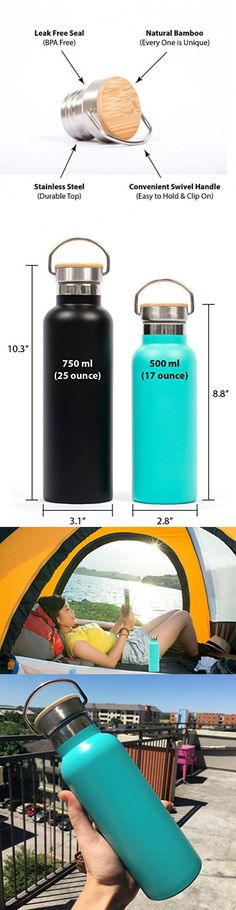 H2O GO SPORT New Insulated,Collapsible Water Bottle Holder