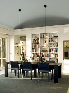 Dining Rooms Design, Pictures, Remodel, Decor and Ideas - page 31  Like the bookcase in this dining room