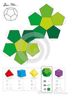 Dodecahedron modelo de papel
