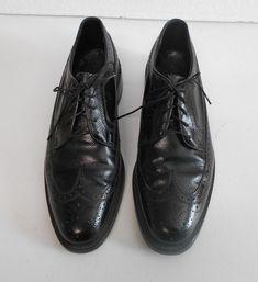 Florsheim Wingtip Black Leather Lace Up Shoes Oxfords Sz 8 D Medium 9258 Lace Up Shoes, Dress Shoes, Leather And Lace, Black Leather, Black Oxfords, Oxford Shoes, Medium, Formal, Fashion