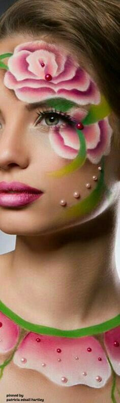 New Painting Woman Face Beauty 45 Ideas Body Makeup, Makeup Art, Design Living Room, Fantasy Makeup, Lip Art, Green Fashion, Colorful Makeup, All Things Beauty, Face Art