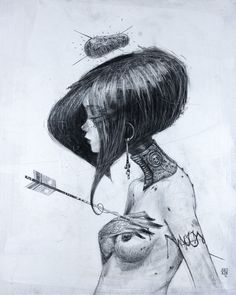 why did you heart me ? graphite on canvas 50x60cm 2012 by MOON http://möön.fr/#