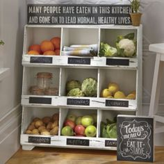 Storage Ideas to Keep Fruits and Vegetables Fresh Vegetable Rack, Vegetable Storage, Fruit Storage, Outdoor Lamp Posts, Cubby Shelves, Cubbies, Shelf, Mail Storage, Cheap Storage