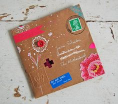 Remember Snail Mail? Let's bring it back. Beautiful envelope by Ishtar at: all the luck in the world-blog|
