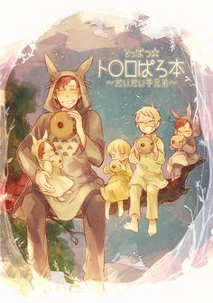 Ghibli crossover with Hetalia Totoro