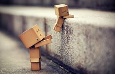 #Danbo helping hand. #Cuteness over level.