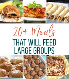 20+ easy meal ideas that feed large groups. Our roundup of dinner ideas for groups of people is a great resource for those who open their doors and dinner table to others.