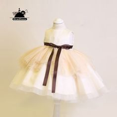 Only $78.99, Flower Girl Dresses Unique Champagne Couture Flower Girl Dress With Sash Wedding Dress For Kids #TG7108 at #GemGrace. View more special Flower Girl Dresses now? GemGrace is a solution for those who want to buy delicate gowns with affordable prices, a solution for those who have unique ideas about their gowns. Find out more>>