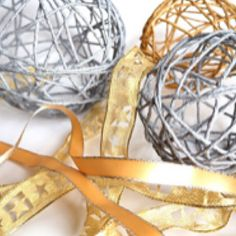 I've written a blog post on how to make your own Christmas decorations. Handmade string baubles how to: https://www.maxandrosie.co.uk/blogs/blog