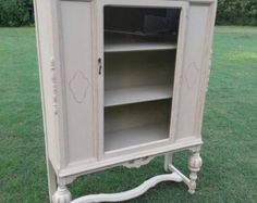 SOLD to Yendan 1940's White Antique Vanity Dresser by ChaiseVerte