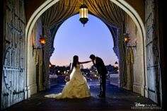 Bridal portrait session captured inside Cinderella Castle. This picture is perfect. Wish i can do a similar shoot at my wedding