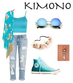 """kimono"" by marvel-us ❤ liked on Polyvore featuring WearAll, Jagger, Converse and kimonos"