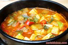 두부 된장 찌개  Tofu & Soybean Paste JjiGae