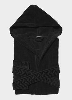 Versace Men's Medusa Hooded Bathrobe