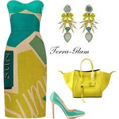 Summer Vibes by terra-glam on Polyvore featuring polyvore mode style Burberry Elizabeth Cole Christian Louboutin