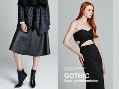 ΒSB/Shop the Lookbook online >> http://bit.ly/1PevUTG Gothic-dark,velvet,feminine