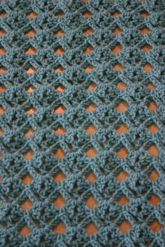 FREE pattern ~ Diamond Lace Stitch Tutorial
