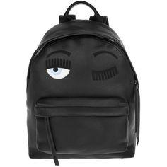 Chiara Ferragni Flirting Backpack Eco Leather Black in black, Shoulder... (27.575 RUB) ❤ liked on Polyvore featuring bags, backpacks, black, knapsack bag, shoulder bag backpack, zip bag, zipper bag and shoulder hand bags