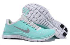 Tiffany Blue Nikes Free 3.0 V4 Womens Blue White Silver 511495 300