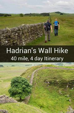 Hiking europe rivers Tackle the Hadrians Wall walk with this 40 mile itinerary. Its a best of itinerary with practical tips for having a great walk. Sightseeing London, Great Walks, Reisen In Europa, Hiking Tips, Hiking Spots, Hiking Gear, Scotland Travel, Hadrian's Wall, Wall Murals