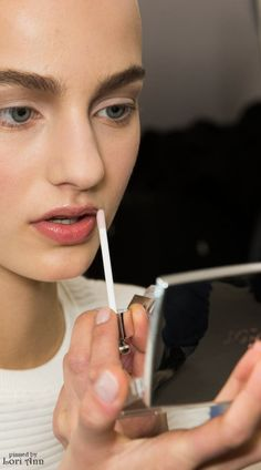 Dior Couture Spring 2015 Backstage - Model: Maartje Verhoef