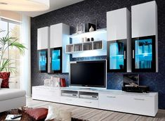 Modern Tv Room Designs Ideas With Presto Modern Wall Unit Entertainment Centre Spacious and Elegant Furniture TV Cabinets TV Stands for Modern Living Room (Black) - Home Garden Modern Tv Room, Modern Tv Wall Units, Modern Wall, Modern Living, Modern Tv Cabinet, Small Living, Tv Wall Design, Tv Unit Design, Living Room Wall Units