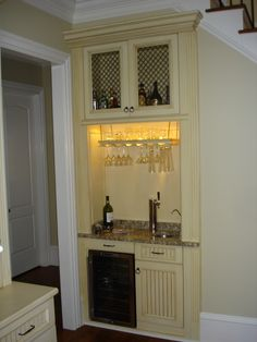 Custom Bar With Wine Fridge & Beer Tap