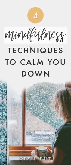 Stress can make you ill and unhappy. There's no way to completely avoid all situations that put you under pressure, but you can practice mindfulness techniques, which will help you calm down fast. Make mindful exercises a part of your everyday life, and you'll relax and manage challenges without anxiety. Here are 4 mindfulness techniques to help you calm down. #mindfulness #meditation #mindful #health #wellness #mentalhealth