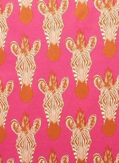 pink and orange and zebra.