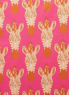 Pink and orange and zebra