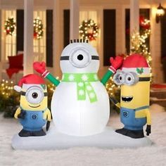 outdoor christmas display minions 7 inflatable lawn decorations xmas home christmas shows christmas and