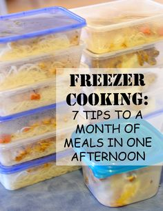 freezer cooking - i need this!
