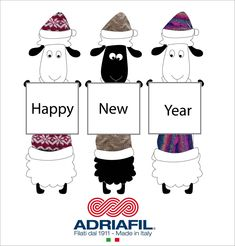 Happy New Year! #Adriafil #happynewyear 2018 www.adriafil.com