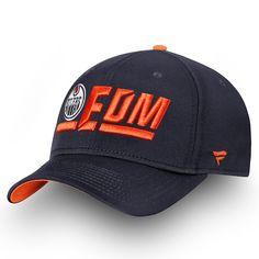 875aecb398198 Men s Edmonton Oilers Fanatics Branded Navy Orange Authentic Pro Rinkside  Alpha - Adjustable Hat