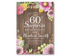 Sorpresa 50 cumpleaños invitación para las por happyappleprinting